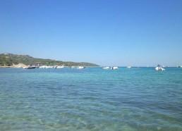 Vue de la plage de Pianterella