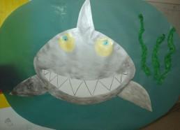 Concours dessin : Mon plus beau poisson - Requin argenté réalisé par un groupe d