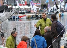 Visite de Team Plastique pour la trésorière de l'association Transat Jacques Vabre