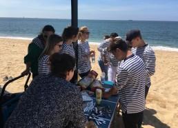 Pique nique à la plage