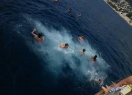 Dernière baignade pour les matelots