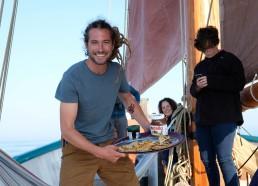 Greg le capitaine nous a préparé des gaufres!