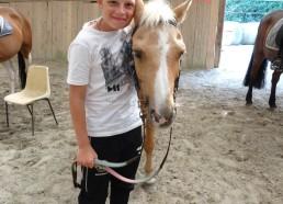 Mathéo et son cheval