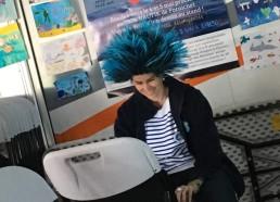 Notre organisatrice de choc Elsa GOURIOU avec une belle perruque