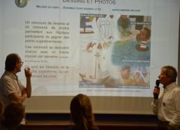 Sébastien et Jean-Yves Chauve parlent du concours photos dessins dans les hôpitaux