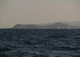 Passage des Iles Sanguinaires près d'Ajaccio
