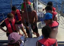Exercice d'évacuation sous les consignes du capitaine