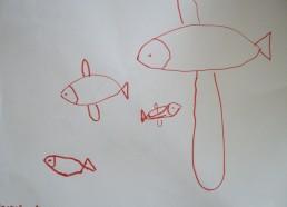 Concours dessin : Mon plus beau poisson - Poissons rouges à grandes nageoires de Wikenson - Hôpital National de SAINT-MAURICE