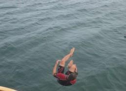 Un salto du Bora Bora pour Florian