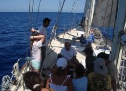 Pierre LEJEUNE répond aux questions des matelots sur l'environnement marin