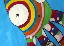 Concours dessin : Mon plus beau poisson - Peinture collective - Centre Hospitalier Yves Le Fol Saint-Brieuc