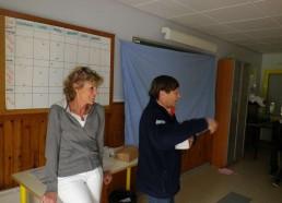 Françoise, la Présidente et Bibi, la trésorière viennent rendre visite aux Matelots