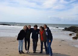 Les encadrants : Cindy, Mathilde, Yann, Emilie et Servane