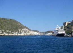 L'entrée du port de Bonifacio