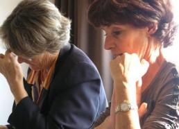 Françoise, la Présidente des Matelots de la Vie et Christine, la secrétaire