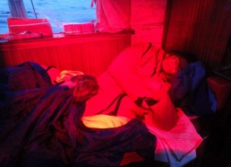 Florian et Louise durant leur deuxième quart de nuit