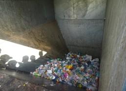 La benne remplie de déchets