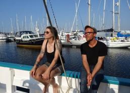 Les 2 autres membres d'équipage : Sarah, marin et Adrien, second.