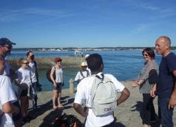 Les matelots sont accueillis par Sylvie et Frédérik