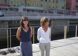 Michèle Maurel, responsable du port de plaisance de Nice avec Françoise la Présidente des Matelots de la Vie