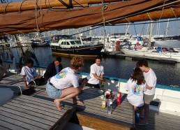 Apéro post-avant : premier moment de convivialité entre matelots