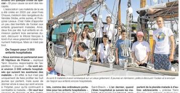 Les Matelots de la vie hissent les voiles, Ouest France 06/08/2013