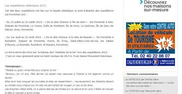 Les Matelots de la Vie sur la mer et sur la toile, Pornichet Infos 01/07/2013