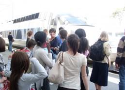 Départ du train pour Paris