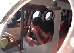 Charli et Nathalie sur la table à carte