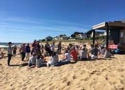 Goûter des bénévoles au club de plage du camping BEL-AIR