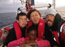 L'équipe de quart de 6h à 8h : Clément, Stella, Adam et Yann