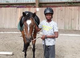 Idrissa, un vrai cavalier