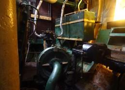Le moteur du bateau musée