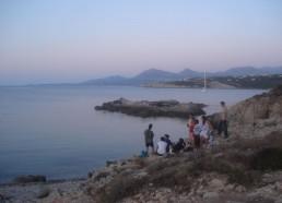Pique-nique en baie de la Revellata