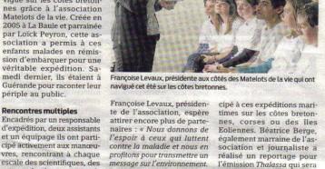 Jeunes Matelots sur Thalassa, Presse Océan, 27 octobre 2011
