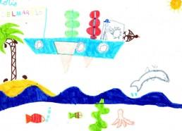 Concours dessins : Mon bateau imaginaire - Loris - Centre d