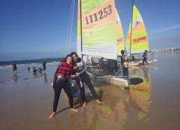 Cécilia et Sonali seront toutes les deux sur un catamaran