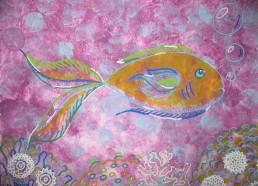 Concours dessin : Mon plus beau poisson - Julia 12 ans - Centre Hospitalier Yves Le Fol Saint-Brieuc