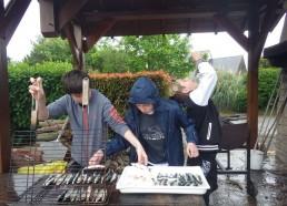 Préparation du barbecue