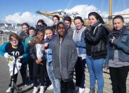 Le moment le plus attendu de la journée, les Matelots découvrent leur bateau, le Bora-Bora au port de La Turballe (44)