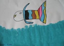 Concours dessin : Mon plus beau poisson - Erwan 11 ans - Centre Hospitalier Yves Le Fol Saint-Brieuc