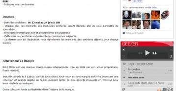 Dernières heures pour remporter les montres Ralf Tech aux enchères !, Vendée Globe 24/06/2013