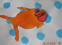 Concours dessin : Mon plus beau poisson - Mathys 10 ans - Centre Hospitalier Yves Le Fol Saint-Brieuc