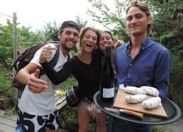 Dégustation saucisson de Brebis et vin blanc