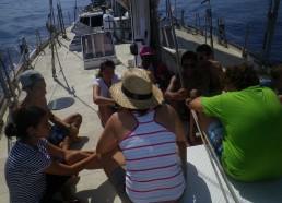 Les matelots préparent leur bilan