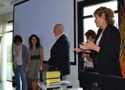 Remise des prix du jeu des Matelots, gracieusement offerts et remis par le Président du Rotary de Challans, M. LARGEAU