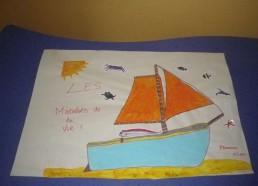 Concours dessins : Mon bateau imaginaire - Plamena, 15 ans - Hôpital ANDRE MIGNOT - LE CHESNAY VERSAILLES