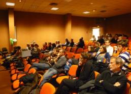 La salle de conférence mis à disposition par l'hôpital de Versailles-Le Chesnay