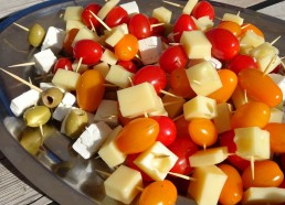 Et les traditionnelles piques de légumes