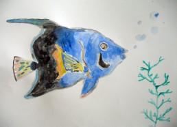 Concours dessin : Mon plus beau poisson - Daphné 13 ans - Centre Hospitalier Yves Le Fol Saint-Brieuc - Première position : 7 points